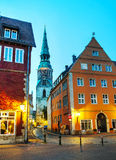 Old town of Hanover at night Stock Images