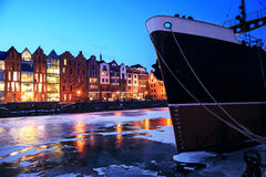 The old town and harbor in Gdansk Stock Images