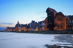 The old town and harbor in Gdansk Stock Photos
