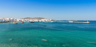 Old Town Harbor Mykonos Royalty Free Stock Photography