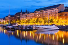 The Old Town in Helsinki, Finland Stock Image