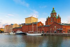 Old Town in Helsinki, Finland Royalty Free Stock Photo