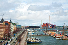 Old town in Helsinki,North Harbour,wief from Uspenski Cathedral Royalty Free Stock Photography