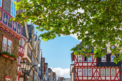 Old town of Herborn, Germany. Square with historic buildings in the picturesque old town of Herborn, Germany Stock Photo