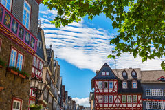 Old town of Herborn, Germany. Square with historic buildings in the picturesque old town of Herborn, Germany Stock Image