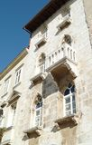 Old town house with balcony, Croatia royalty free stock images