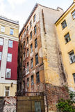 Old town house to be demolished. Old abandoned town house to be demolished Stock Photo