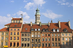 Old Town Houses. Houses in the Old Town, Warsaw, Poland Stock Image