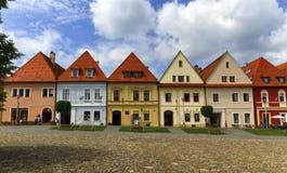 Old town houses in Bardejov, Slovakia Stock Photos