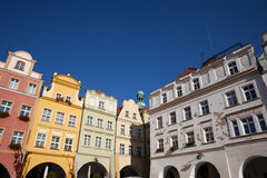 Old Town Houses in City of Jelenia Gora Stock Image