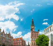 Old town houses in Gdansk, Poland, Europe. Stock Photo