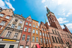 Old town houses in Gdansk, Poland, Europe. Royalty Free Stock Image