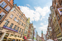 Old town houses in Gdansk, Poland, Europe. Royalty Free Stock Photos