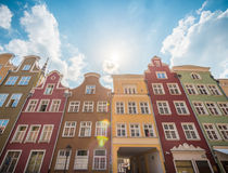 Old town houses in Gdansk, Poland, Europe. Royalty Free Stock Photo