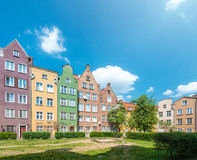 Old town houses in Gdansk, Poland, Europe. Royalty Free Stock Photography