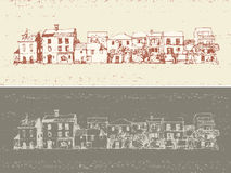 Old town houses royalty free illustration