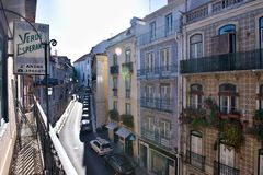 Old town houses Lisbon - Portugal Royalty Free Stock Photo