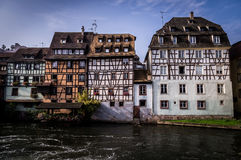 Old Town Houses in Petite France District in Strassburg, Alsace Royalty Free Stock Images