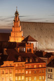 Old Town Houses and St. John`s Archcathedral in Warsaw Stock Photos