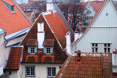 Old Town Houses in Tallinn Royalty Free Stock Photos