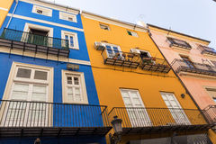 Old Town houses  in Valencia, Spain. Stock Images