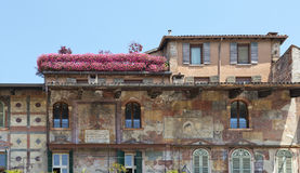 Old Town Houses in Verona Stock Photo