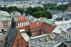 Old Town houses, view from above, Krakow Royalty Free Stock Photos