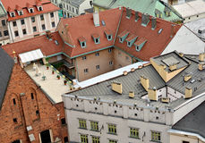 Old Town houses, view from above, Krakow Stock Images