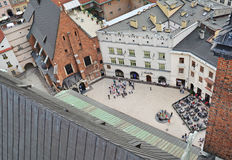 Old Town houses, view from above, Krakow Royalty Free Stock Photo