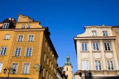 Old Town Houses in Warsaw Stock Images