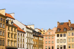 Old Town Houses in Warsaw Stock Image