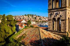 Old town of Hvar on Hvar island in Croatia Royalty Free Stock Images