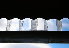 The old Town  icicles. The old Town Royalty Free Stock Image