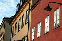 Old Town II. Detail of house facade in Old town, Stockholm, Sweden Royalty Free Stock Photo
