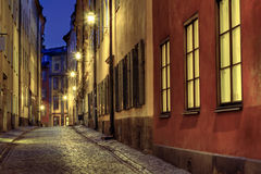 Old Town illumination. Stock Photography