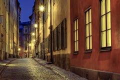Old Town illumination. Old Town street illuminated at night Stock Photography