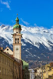 Old town in Innsbruck Austria. Architecture background Stock Images