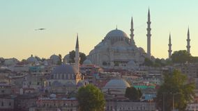 Istanbul and The Suleymaniye Mosque stock video