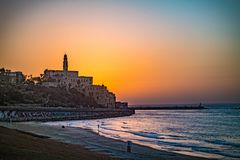 Old town of Jaffa on sunset. Old town of Jaffa on sunset, Tel Aviv, Israel Stock Image