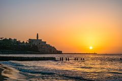 Old town of Jaffa on sunset. Old town of Jaffa on sunset, Tel Aviv, Israel Royalty Free Stock Photos