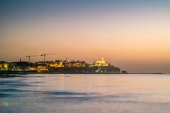 Old town of Jaffa on sunset. Old town of Jaffa on sunset, Tel Aviv, Israel Royalty Free Stock Images