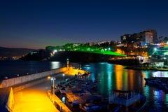 Old town Kaleici in Antalya, Turkey at night Royalty Free Stock Photos