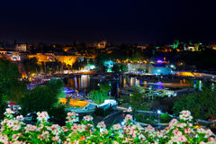 Old town Kaleici in Antalya, Turkey at night Royalty Free Stock Photography
