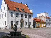Old town of Kalmar - larmtorget Stock Photography