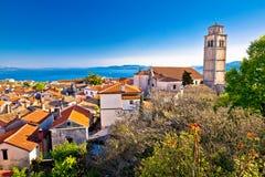 Old town of Kastav above Kvarner bay. View, Opatija riviera of Croatia Stock Photos