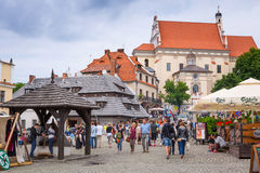 Old town of Kazimierz Dolny in Poland Stock Photo