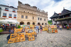 Old town of Kazimierz Dolny in Poland Stock Image