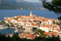 The old town of Korcula. On Croatia Royalty Free Stock Photos