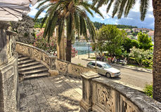 Old town Korcula at Croatia - harbor. Stock Image