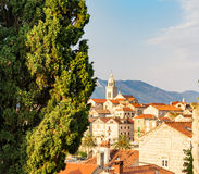 Old Town on Korcula island in Dalmatia, Croatia Stock Image
